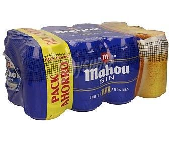 Mahou Cerveza sin alcohol  Pack 10+2 lata 33 cl