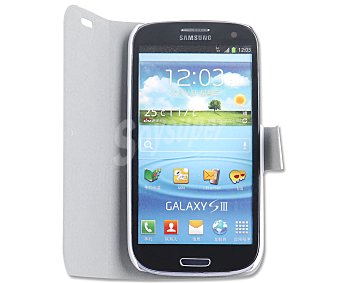 Auchan Funda con tapa para Samsung Galaxy S3 Blanca (telefono no incluido)