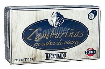 Hacendado Zamburiñas salsa vieira Lata 111 g escurrido
