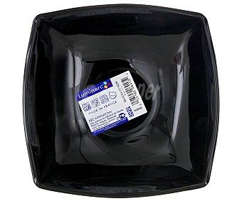 LUMINARC Cuenco o lavafrutas de 14 centímetros modelo Quadrato, fabricado en vidrio opal negro y con diseño cuadrangular 1 Unidad
