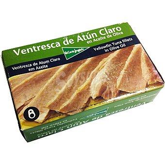 El Corte Inglés Ventresca de atún claro en aceite de oliva Lata 73 g neto escurrido