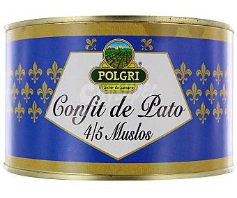 Polgri Confit de Pato 4/5 Muslos de Pato 1350 Gramos