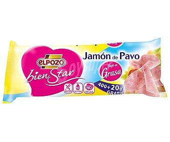 ElPozo Taco de jamón de pavo bajo en grasa Bienstar 400 g