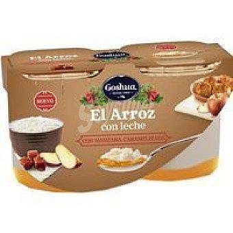 Goshua Arroz con leche-manzana al caramelo pack 2x125 g