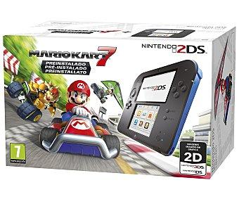 Nintendo Consola Nintendo 2DS en Color negro/azul + Juego Mario Kart 7 Pre instalado 1 Unidad