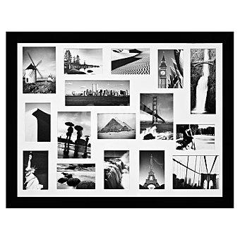 HERGON Marco con multiventanas de 60 x 80 cm en color negro 1 Unidad