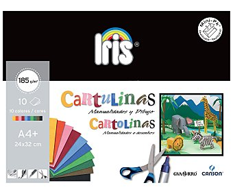Canson Minipack A4 10 Hojas Cartulinas de Colores Canson