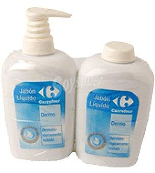 Carrefour Jabón líquido de manos dermo protector Dosificador de 300 ml. + recambio de 30