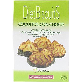 Larrosa Dietbiscuits coquitos con choco con edulcorante y sin azúcar añadido Envase 200 g