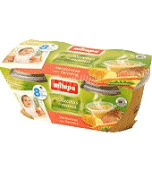 Milupa Tarrito verduritas con ternera Pack de 2x200 g