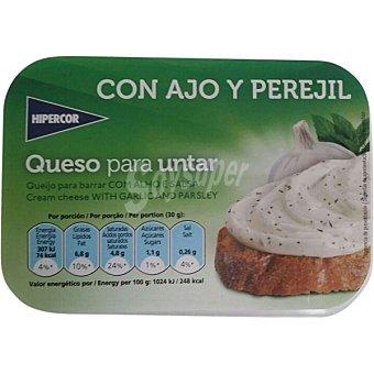 Hipercor Queso para untar con ajo y perejil Envase 125 g