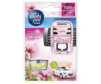 AMBIPUR CAR Ambientador de Coche para Rejilla de Ventilación + Recambio con Olores Agradables para ellas 1 Unidad