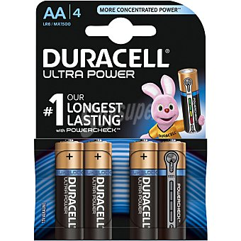 Duracell Ultra Power pila alcalina AA (lr6/mx1500) blister 4 unidades Blister 4 unidades
