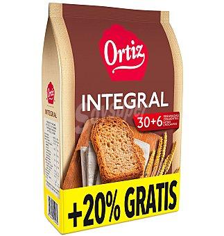 Ortiz Pan integral sin sal y sin azucar 30 UNI