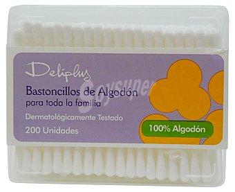 Deliplus Bastoncillos oidos Caja 200 u