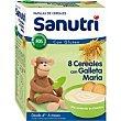 Papilla 8 cereales-galleta maría Caja 600 g Sanutri