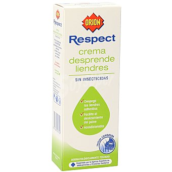 Orion Respect crema desprende liendres sin insecticidas Caja 100 ml