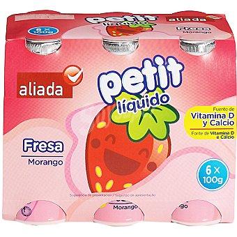 Aliada Petit líquido sabor fresa Pack 6 unidades 100 g