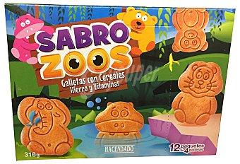 Hacendado Galleta sobrozoos  (galleta forma de animales con cereales) 316 g (12 bolsitas)
