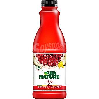VIA NATURE Rojo Zumo de granada y manzana con rooibos Envase 900 ml