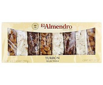 El Almendro Selección de turrones surtidos precortados de calidad suprema 200 gramos