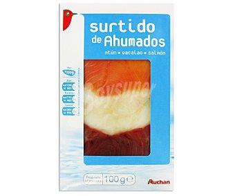 Auchan Surtido de ahumados de atún, bacalao y salmón 100 gramos