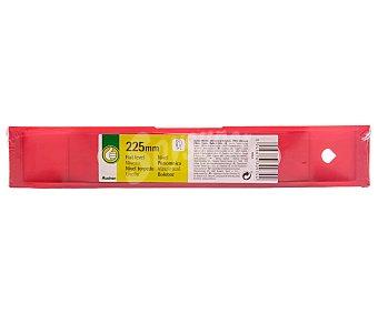 Productos Económicos Alcampo Nivel torpedo de 225 milímetros, color rojo y cuerpo plástico resistente a golpes, ALCAMPO.