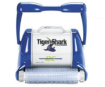 QP Limpiafondos eléctrico modelo Tiger Shark, recomendado para piscinas de hasta 12x6 metros y cualquier tipo de revestimiento. Incluye 17 metros de cable y 3 ciclos de limpieza 1 unidad