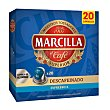 Café descafeinado 20 cápsulas caja 104 gr Caja 104 gr Marcilla