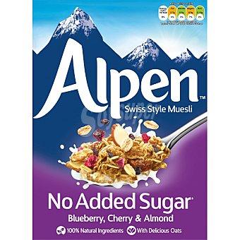 Alpen Muesli con arándanos, cerezas y almendras sin azúcares añadidos estuche 560 g estuche 560 g