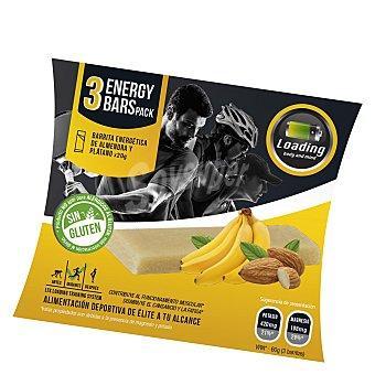 Loading Barritas energéticas de almendra y plátano Pack de 3x20 g
