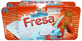 HACENDADO Natillas fresa 4 unidades de 125 g (500 g)