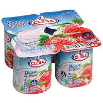 CLESA Yogur de fresa Pack 4x125 g