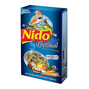 Purina Friskies Nido Alimento para pájaros exóticos Nido Optimal Menú completo Caja 750 g