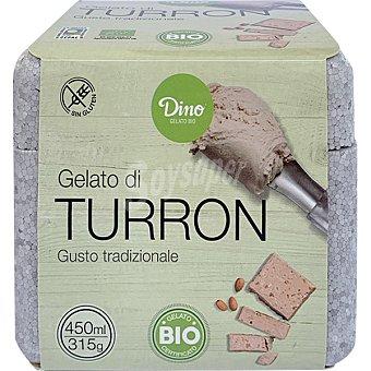 Dino Helado de turrón ecológico y sin gluten tarrina 450 ml