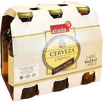 Aliada Cerveza rubia nacional pack 6 botellas 25 cl Pack 6 botellas 25 cl