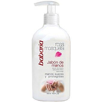 Babaria Jabón de manos rosa mosqueta Bote 500 ml
