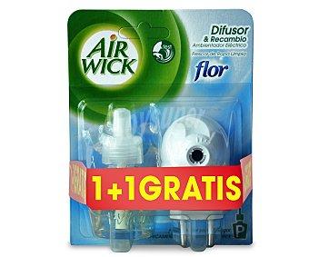 Air Wick Ambientador Eléctrico Recambio Flor Frescor Ropa 2 ud