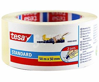 Tesa Rollo de 50 metros de cinta de pintor de 50 milímetros tesa