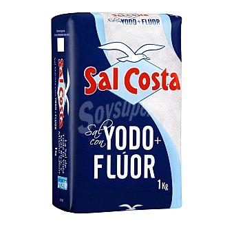 SAL COSTA sal marina con yodo + flúor  paquete 1 kg