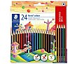 Lápices de colores para colorear, staedtler Pack de 24 Noris staedtler