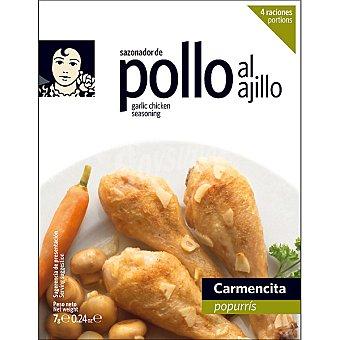 Carmencita Sazonador especial para pollo al ajillo 4 raciones Envase 7 g