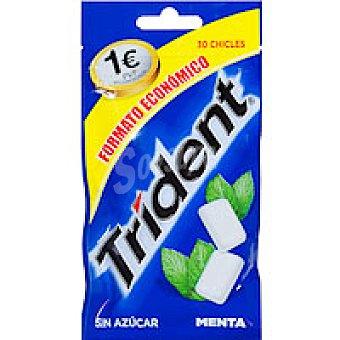 Trident Chicle de menta sin azúcar en gragea Paquete 43 g