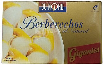 Dunord Berberechos natural xl (20/30 piezas) Lata 111 g escurrido 63 g