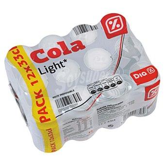 DIA Refresco de cola light pack 12 latas 33 cl