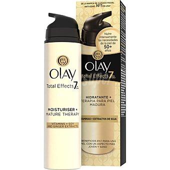 OLAY Total Effects 7 en 1 crema hidratante para piel madura vitaminas + extractos de soja tarro 50 ml