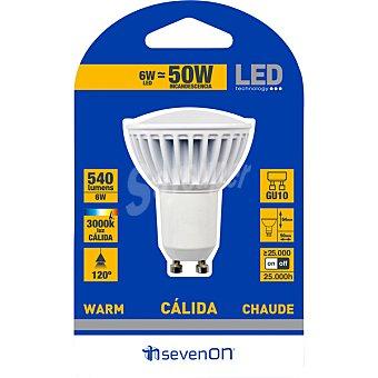 SEVENON Lámpara LED blanco cálido GU10 1 Unidad