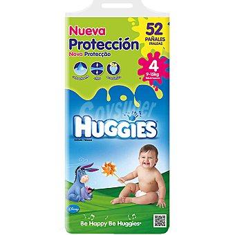 HUGGIES Nueva Protección pañáles de 9 A 15 kg talla 4 paquete 52 unidades
