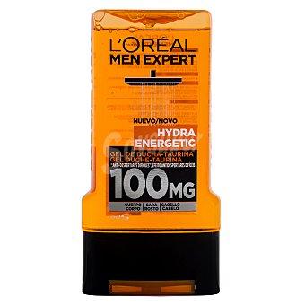L'Oréal Men Expert Gel de ducha taurina Hydra Energetic (cuerpo, cara y cabello) Bote 300 ml