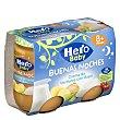 Tarrito de crema de verduras con rape, a partir de 8 meses Pack 2 tarritos x 190 g Hero Baby Buenas Noches